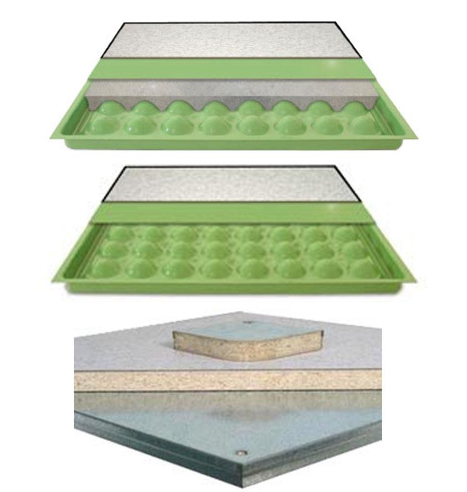 ASM Access Floor Tiles Data Center cutaway