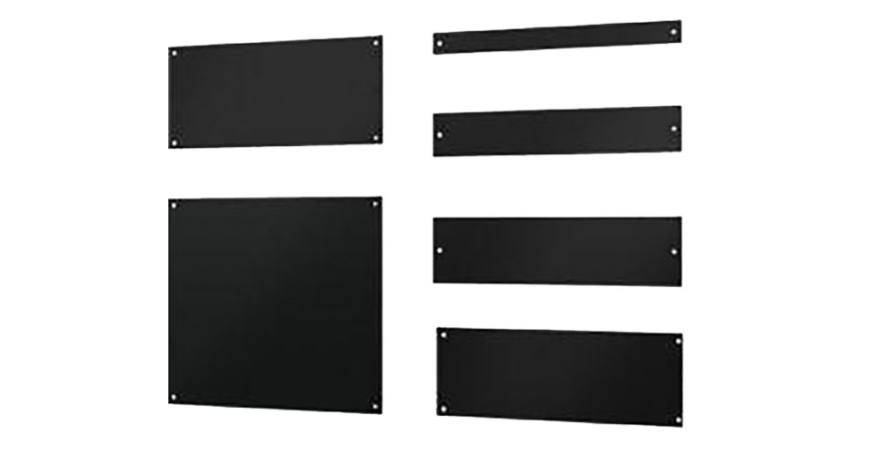 A variety of cool shield blanking panels for data centers