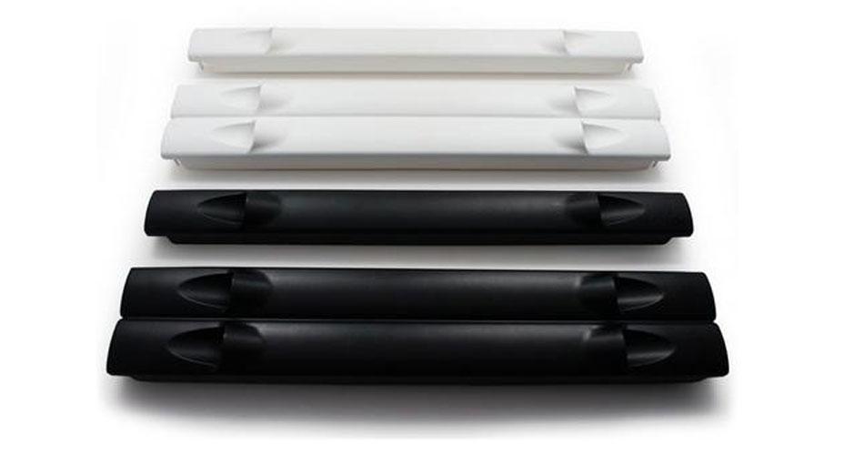 White and black hotlok blanking panels for data centers