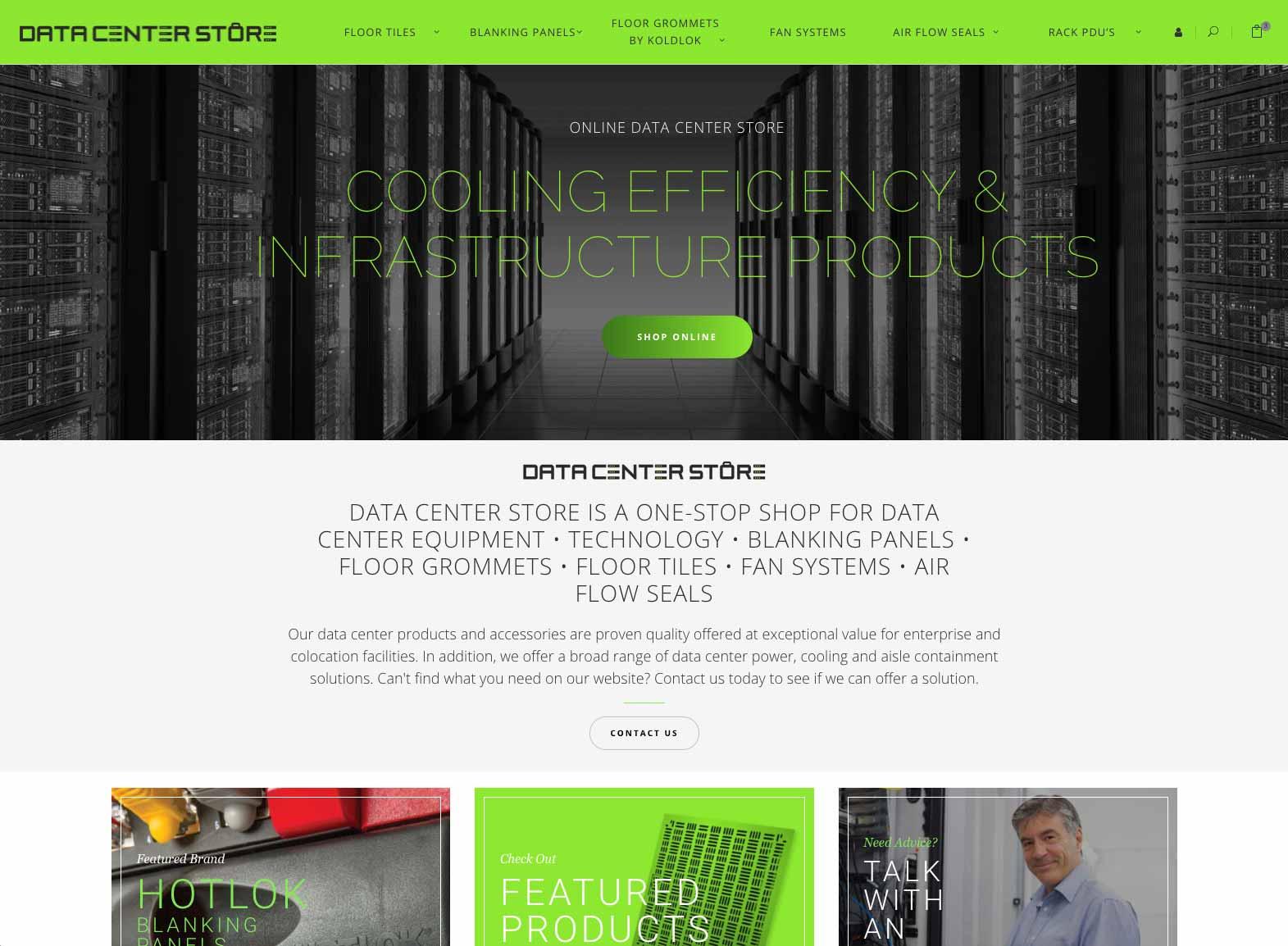 Data Center Store Website